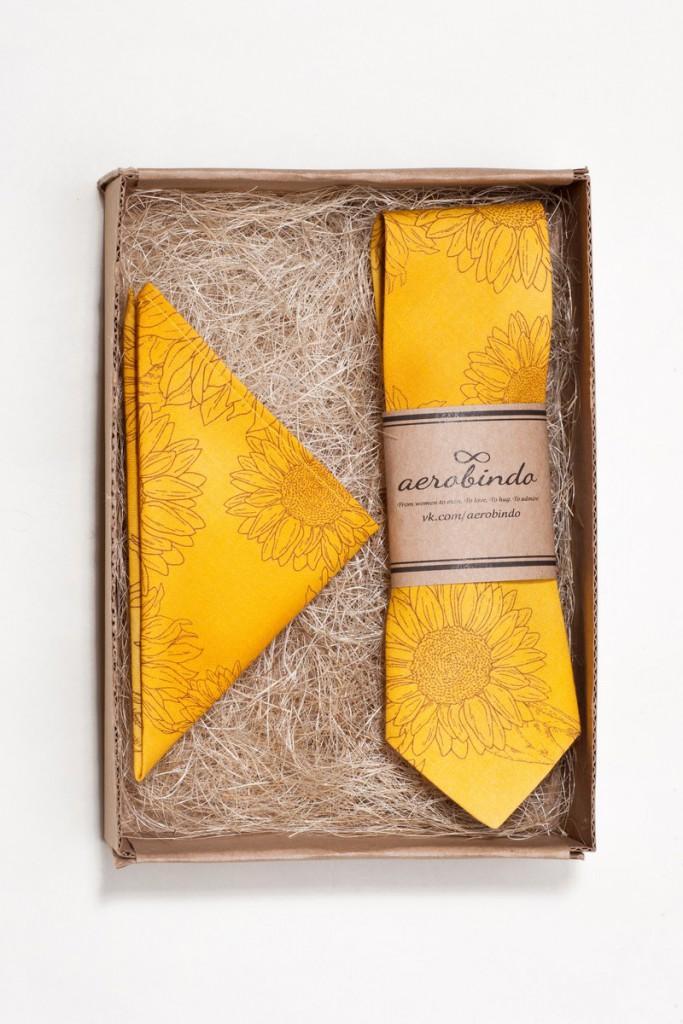 Набор Van Gogh галстук + платок
